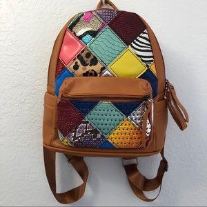 Parisian Boho Faux Leather Backpack